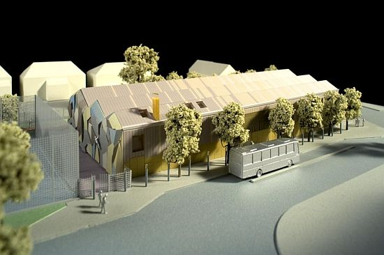 competition entry for a community library that runs on renewable energy