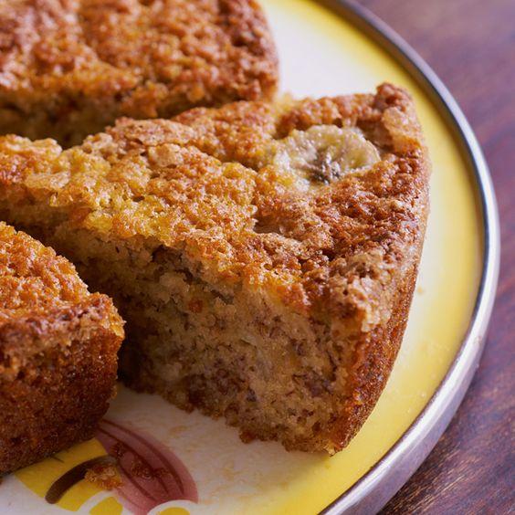 a delicious moist banana walnut cake recipe. Moist Banana Walnut cake Recipe from Grandmothers Kitchen.