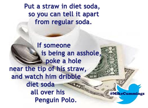 A straw has more than one use.