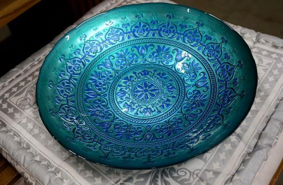 Centro de Mesa em Vidro. O impressionante colorido da Turquia.