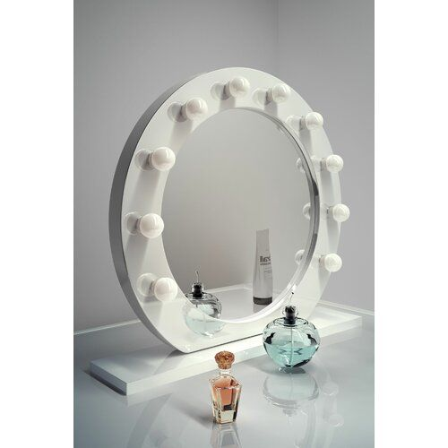 Hollywood Makeup Mirror 17 Stories Finish White Bulb Colour Temperature Warm White In 2020 Hollywood Mirror With Lights Makeup Vanity Mirror With Lights Makeup Mirror With Lights