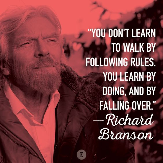 Entrepreneurs don't shy away from the prospect of failure.