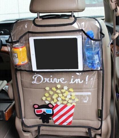 """Aliexpress.com: Compre 2 x engrosse PVC ambiental protetor de assento de carro de volta organizador para viajar, """" Com organizador para Ipad """" de confiança Recepção organizadores carro fornecedores em FAKA Auto"""