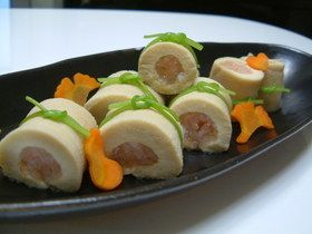 高野豆腐の海老巻き