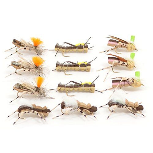 trout fly assortment - foam body high visibility grasshopper dry, Fly Fishing Bait