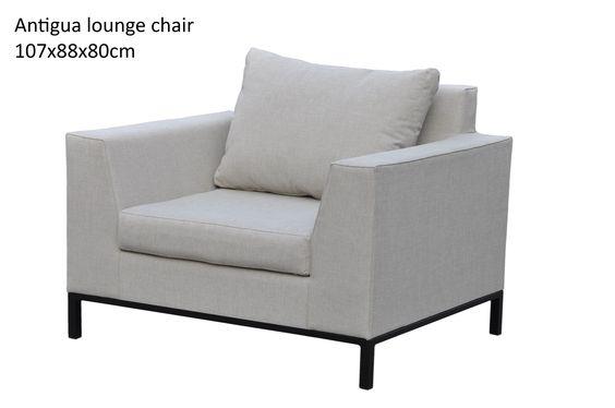 Antigua lounge chair - grey