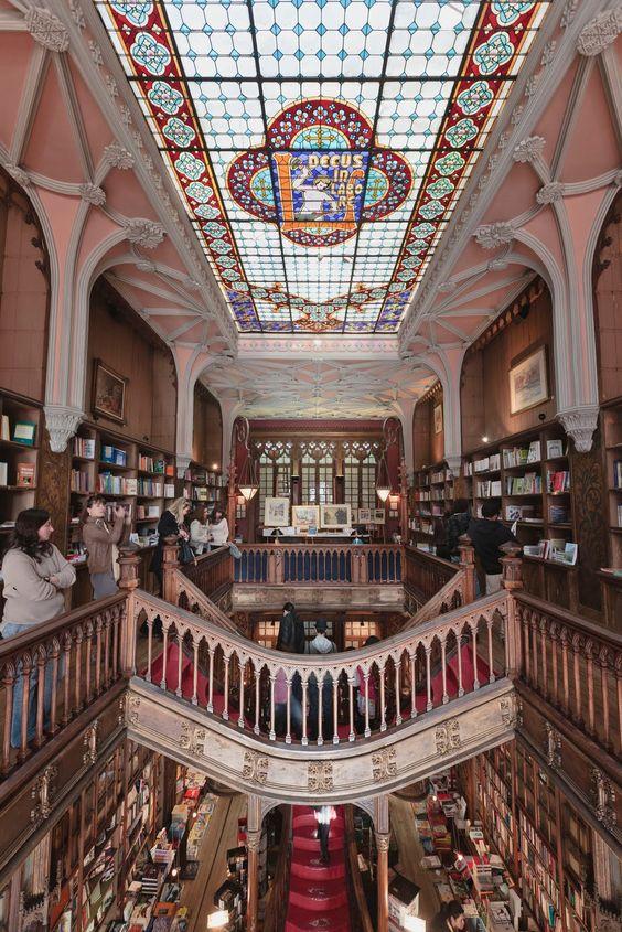 Livraria Lello & Irmão, also known as Livraria Chardron or simply Livraria Lello (Lello Bookstore) is a bookstore located in central Porto, Portugal.