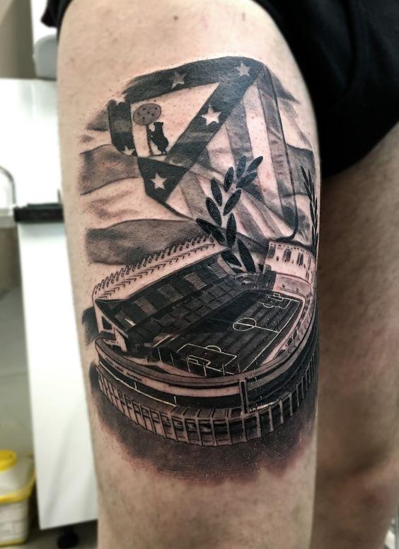 Vicente Calderón atletico de Madrid atlético atleti fútbol tattoo
