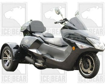 icebear scooter trike 300cc gas scooter 3 wheeler trike scooter trike moped scooter cheap. Black Bedroom Furniture Sets. Home Design Ideas