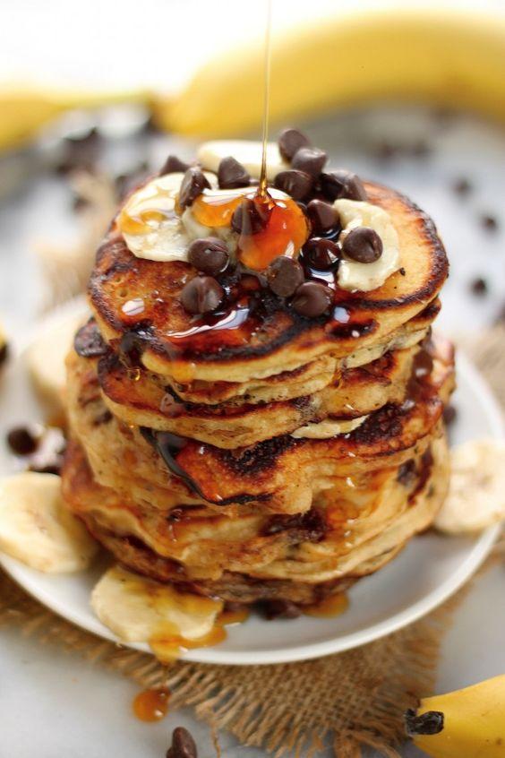 ... greek yogurt pancakes fresh banana chocolate banana pancakes bananas