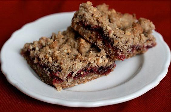 Double Cranberry Cinnamon Oatmeal Nut Bars | Vegan Food (Recipes ...