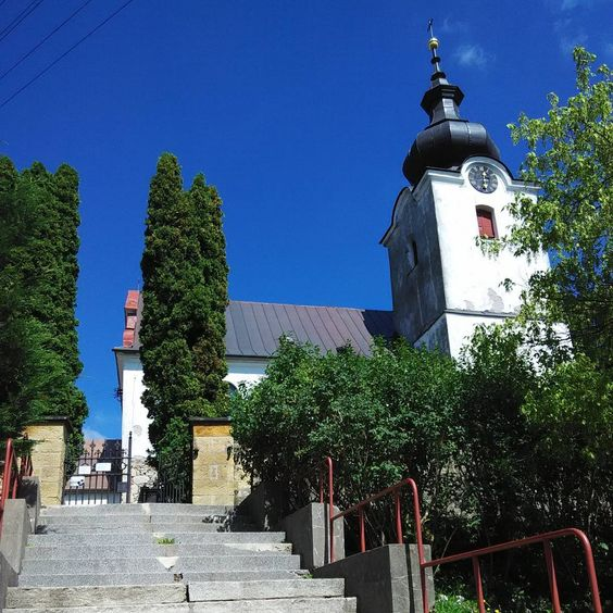 Our wedding place. Three years later. #wedding #church #bluesky #stairway #village #beatiful #day #summmer