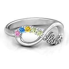 2-10 Stone Mom's Infinite Love Mother's Ring #jewlr