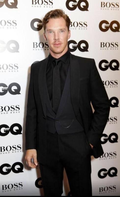 Benedict Cumberbatch at the GQ awards