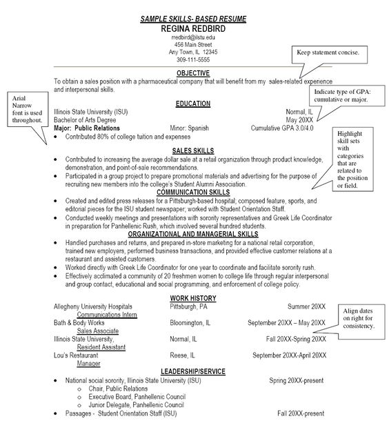 Sample Resume Skills Based Resume - Http://Www.Resumecareer.Info