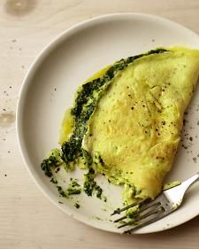 Martha Stewart: Healthy Omlettes: Healthy Omelet, Scrambled Eggs, Healthy Breakfast, Filled Omelets, Pesto Recipe, Omelet Recipes, Healthy Food, Spinach Basil Pesto