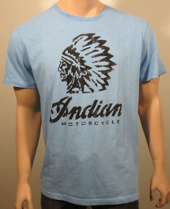 new lucky brand indian motorcycle distressed graphic short