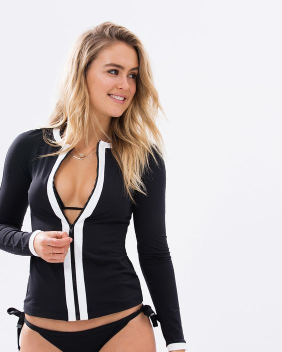 Block Party Long Sleeve Sunvest by Seafolly Online | THE ICONIC | Australia