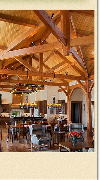 Post and beam beams and timber frames on pinterest for Log home plans texas