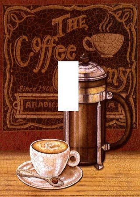 Coffee Theme Kitchen Dine Room Light Switch Plate Cover Unique Wall Art And