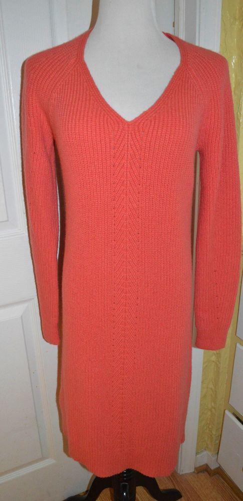 NWT! Ann Taylor wool & alpaca blend coral sweater dress in M - retail $139…