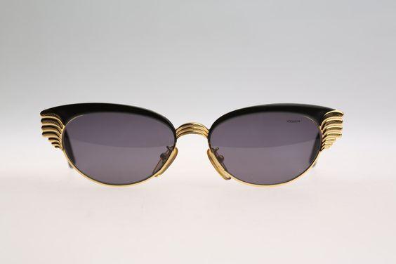 Vogart Mod 3061 / Vintage sunglasses / NOS / 90s Rare nd unique cat eye frame by CarettaVintage on Etsy