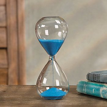 Glass Hourglass with Blue Sand