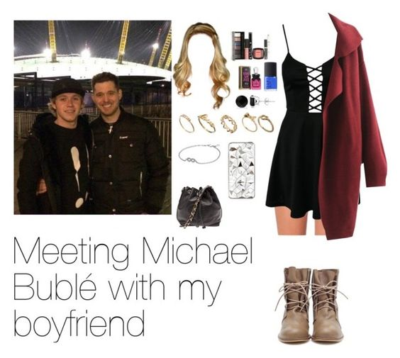 """Meeting Michael Bublé with Niall"" by myllenna-malik ❤ liked on Polyvore featuring Chantelle, Club L, Chanel, ASOS, River Island, Pandora, NARS Cosmetics, Juicy Couture, NYX and Allurez"