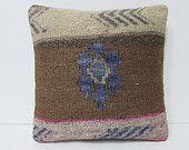 kilim pillow cover Turkish cushion sofa throw pillow decorative pillow case couch outdoor floor bohemian decor boho ethnic rug accent 23925