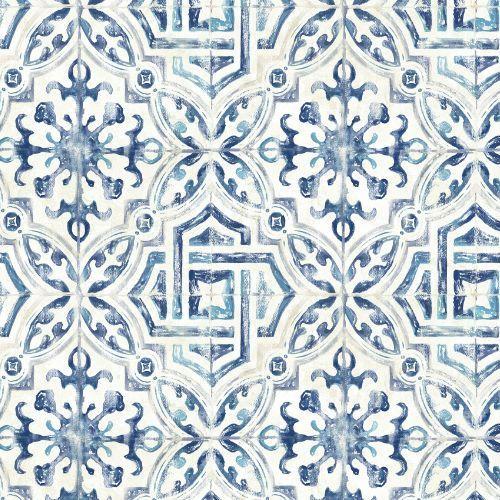 Sonoma Spanish Tile Wallpaper 21 Inch Sample Lelands Wallpaper Tile Wallpaper Spanish Tile Spanish Style Bathrooms