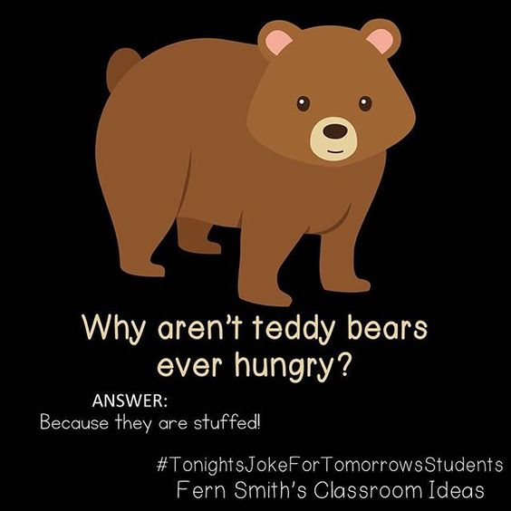 Why aren't teddy bears ever hungry?