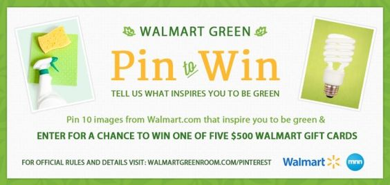 Walmart Green Pin to Win Contest