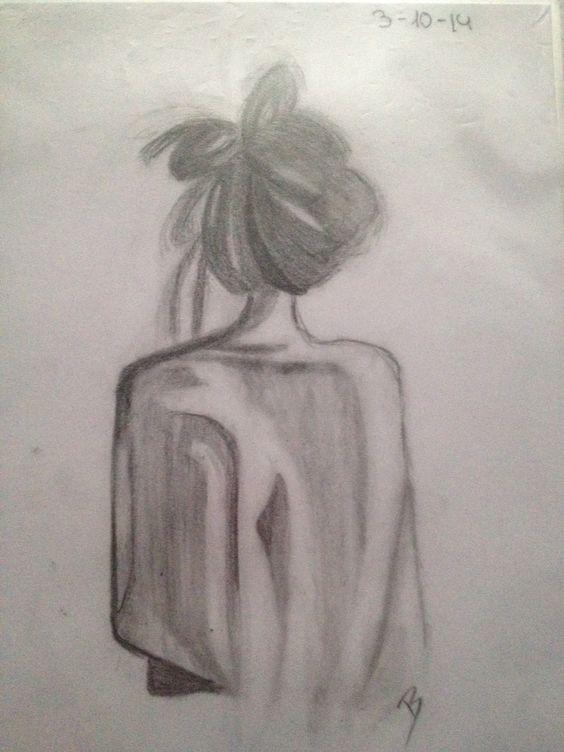 Chica De Espaldas Dibujos Pinterest Espalda Chicas