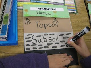 Awesome flip book for soil unit