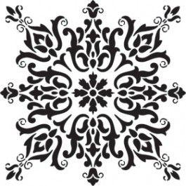 Stencil patterns for furniture barcelona tile - Stencil barcelona ...