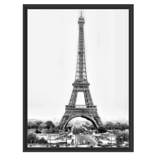East Urban Home Gigantic Eiffel Tower Framed Photographic Print Framed Wall Art Canvas Pictures Painting Frames