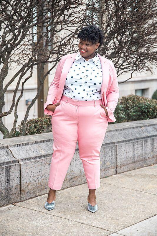 Power Suit   Fashion, Plus size fashion, Plus size khaki pants