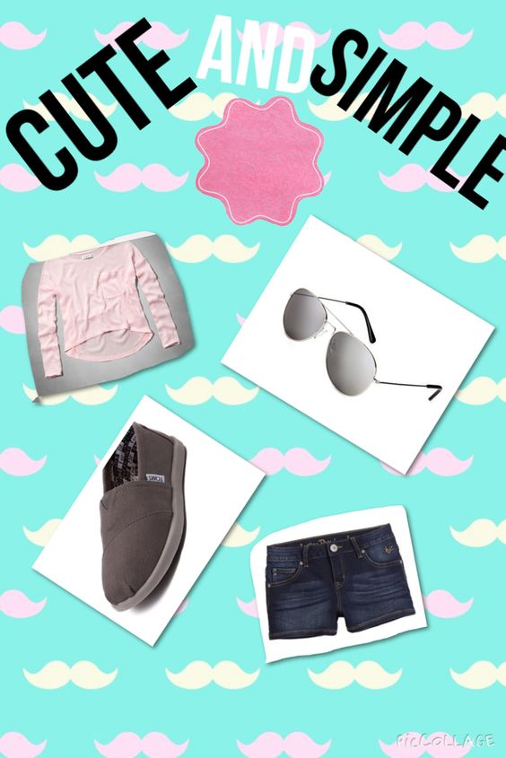 Cute and simple summer outfit Abercrombie and Fitch top:$9.98 Justice shorts:$14.98 Aeropostale sunglasses:$5.49 Journeys toms:$29.98