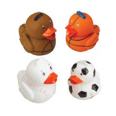 Mini Rubber Ducks in Sports Themes from Windy City Novelties