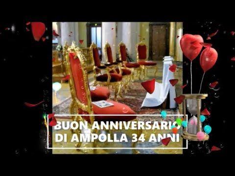 Anniversario Di Matrimonio 34 Anni.Buon Anniversario Nozze Di Ampolla 34 Anni Di Matrimonio