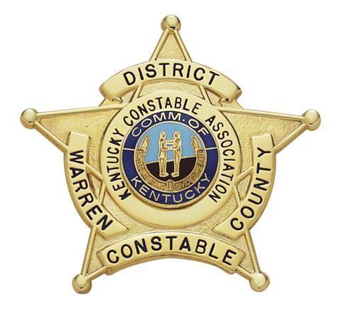Us State Of Kentucky Warren County Constable Office Badge Police Badge Police Uniforms Police Officer Badge