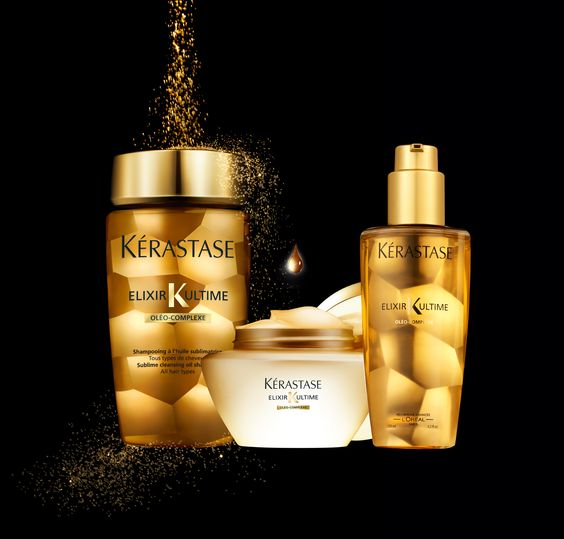 kerastase new elixir ultime 24 carat gold collection. Black Bedroom Furniture Sets. Home Design Ideas