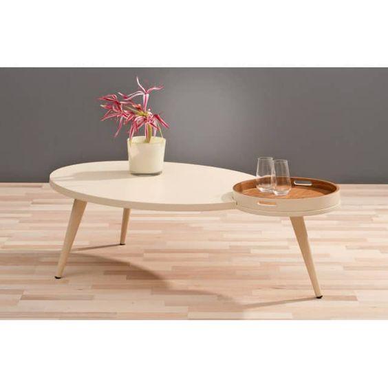 Couchtisch PLUS Design-Wohnzimmertisch mit abnehmbaren Tablett