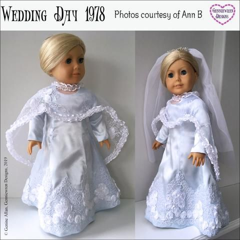 Rosebud Veil Bridal Communion 18 in Doll Clothes Fits American Girl