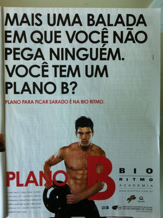 Men's Health Brasil, Gym ad