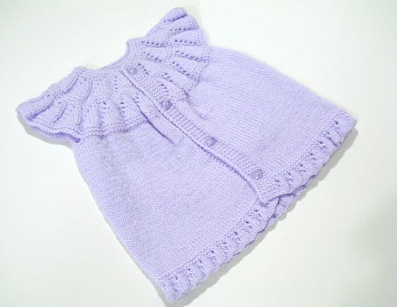 Purple Knitted baby vest dress baby girl top Knit by AllSoCute, $25.00: