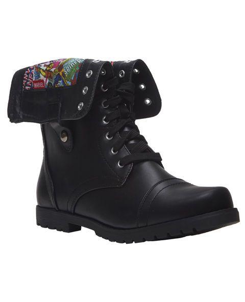 Marvel Comics Foldover Combat Boots | Shoes | Pinterest ...