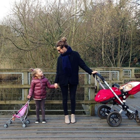 Sunny(ish) day today so Ivy and I have taken our babies out for a stroll! #Padgram