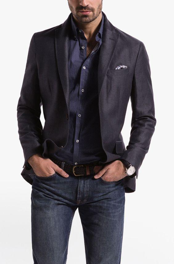 That Blazer Massimo Dutti Grey Cotton And Linen Structured Blazer Gentleman Status