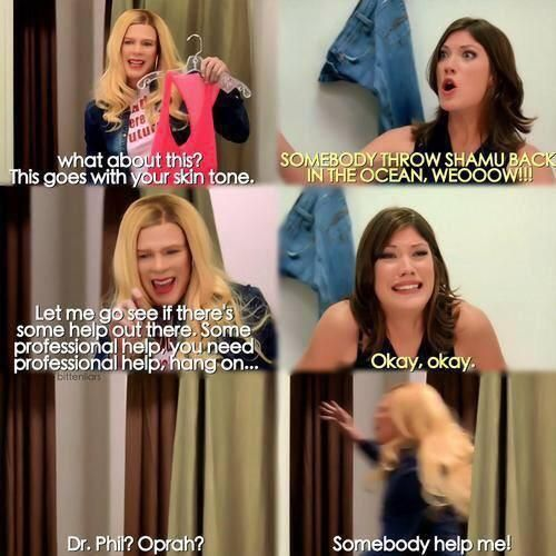 This is my favorite part because she's like 120 pounds!